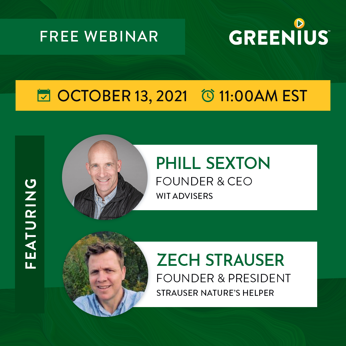 Landscape Leaders Webinar with Phill Sexton and Zech Strauser
